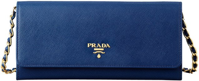 Prada-Saffiano-Wallet-on-a-Chain-Blue