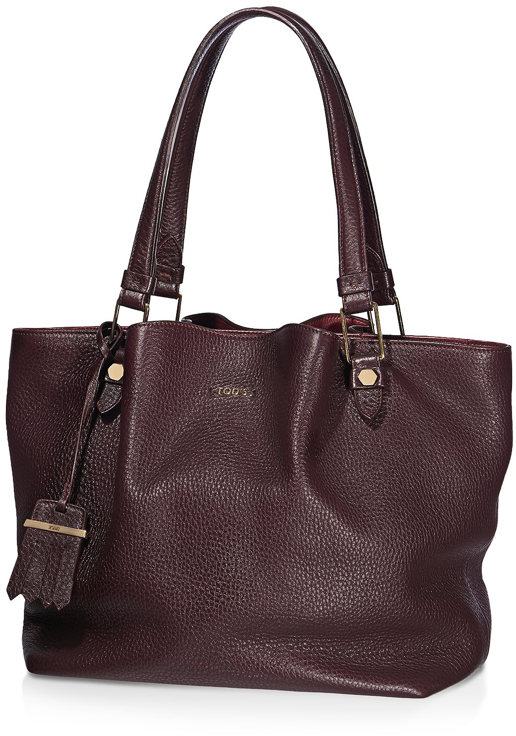TodsMedium-Flower-Bag-brown