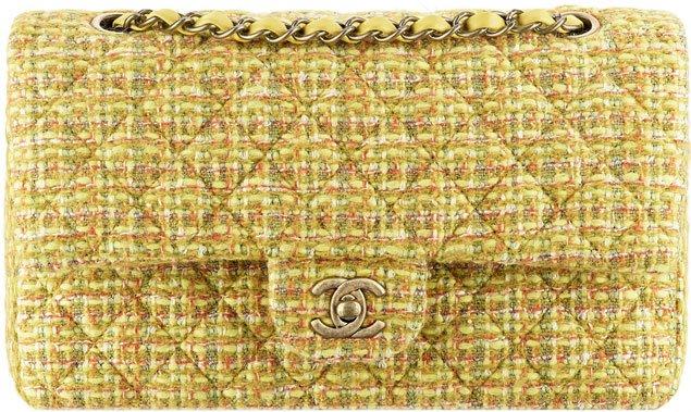 chanel-classic-flap-bag-yellow-tweed