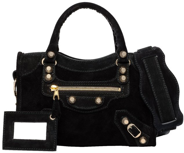 Balenciaga-Baby-Daim-Giant-Gold-Mini-City-Black