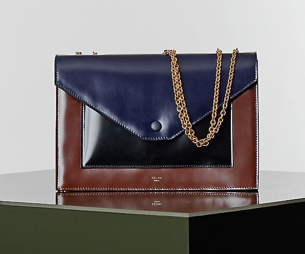 celine pocket leather handbag
