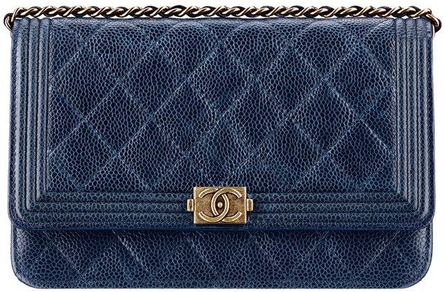 chanel boy wallet on chain in grained calfskin bragmybag