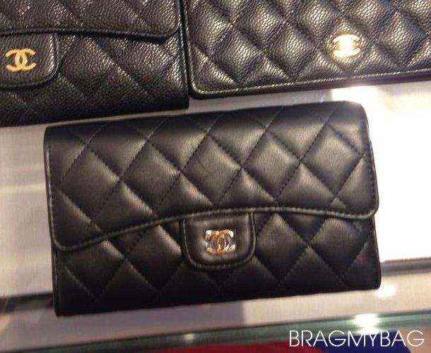 Chanel-Flap-Wallet-Black-Lambskin