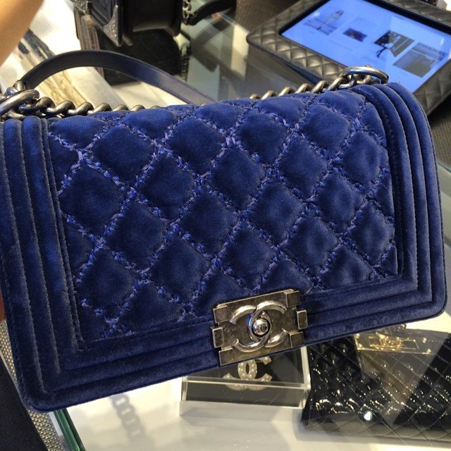 chanel velvet boy quilted flap bag bragmybag