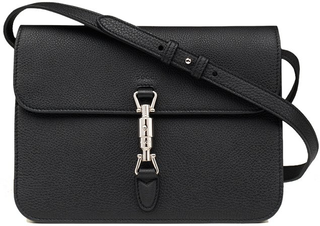 Gucci-Jackie-Flap-Bag-Black