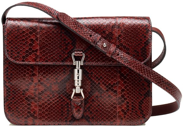 Gucci-Jackie-Flap-Bag-Bordeaux-Python