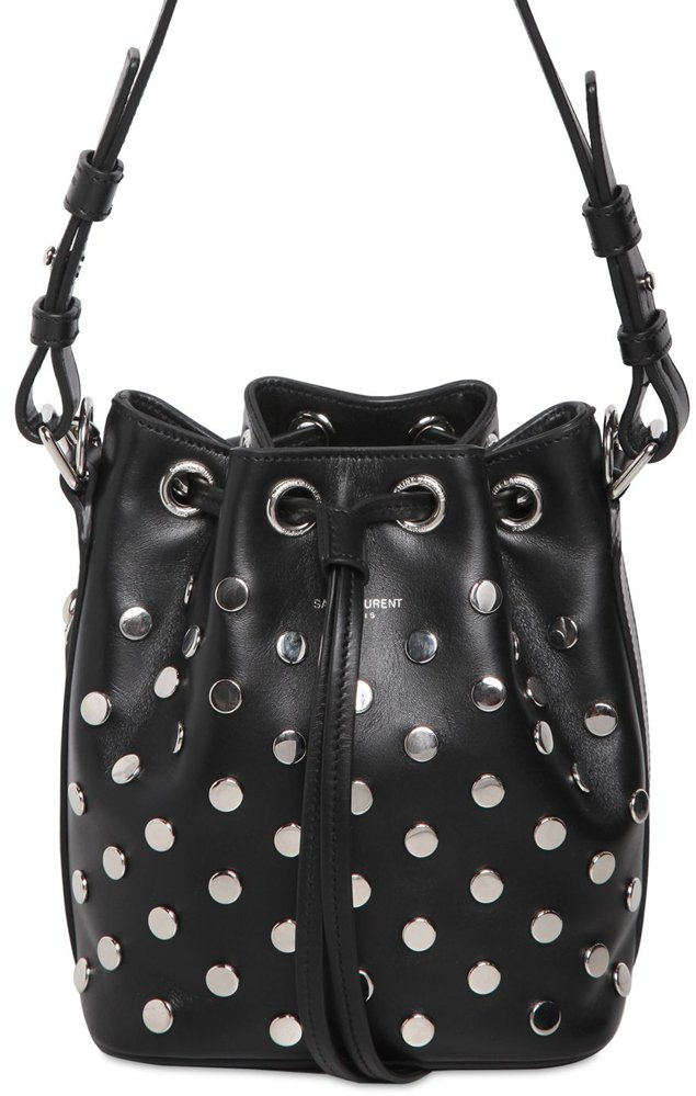 Saint-Laurent-Small-Emmanuelle-Bucket-Dotted-Bag