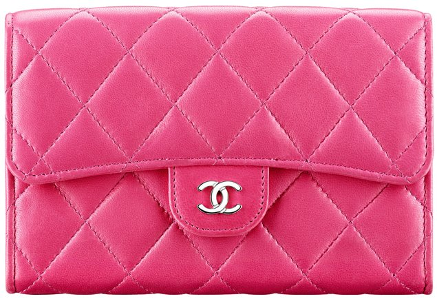 chanel-double-flap-wallet-pink