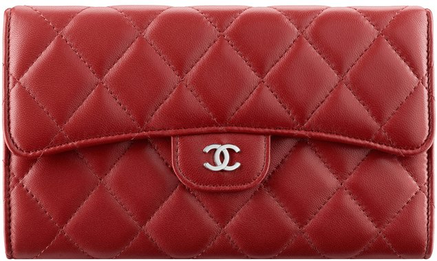 chanel-flap-wallet-red