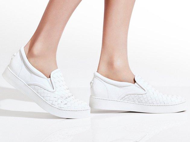 Intrecciato leather slip-on sneakers Bottega Veneta X5ZKK