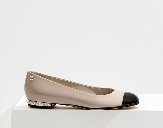 CHANEL Pearl Detail Ballet Flats From Mgn6dlbme