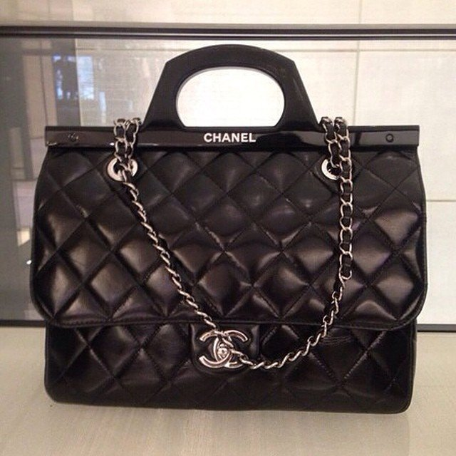 chanel cc delivery tote bag bragmybag. Black Bedroom Furniture Sets. Home Design Ideas