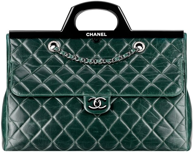 Chanel-Calfskin-Flap-Bag-With-A-Rigid-Handle