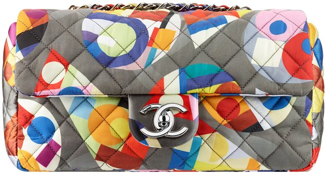 Chanel-Printed-Nylon-Flap-Bag