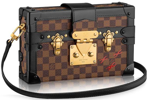 Louis Vuitton Damier Canvas Petite Malle Leather Strap Handbag的圖片搜尋結果