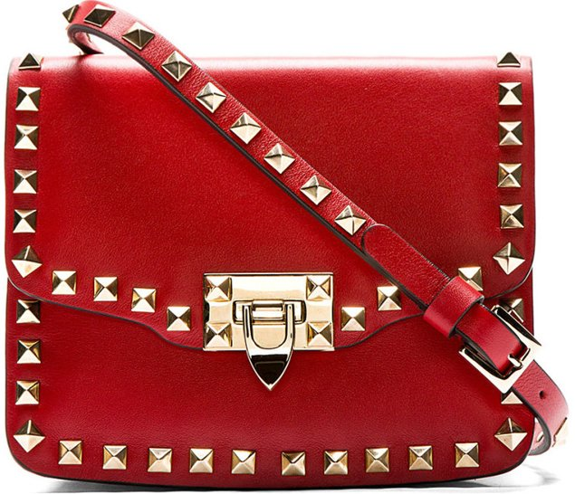 Valentino Shoulder Bag for Women On Sale, Red Valentino, Red, Leather, 2017, one size