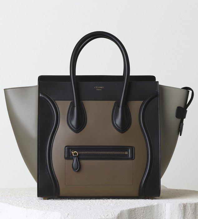 buy replica bag - celine grey mini luggage handbag