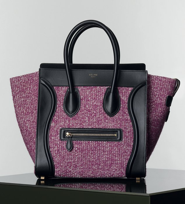 celine luggage tote mini black