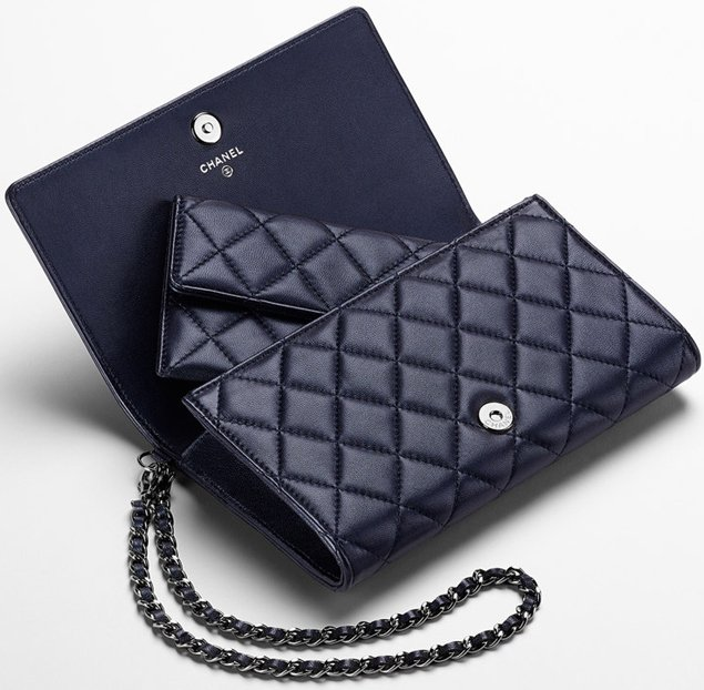 chanel chain on wallet