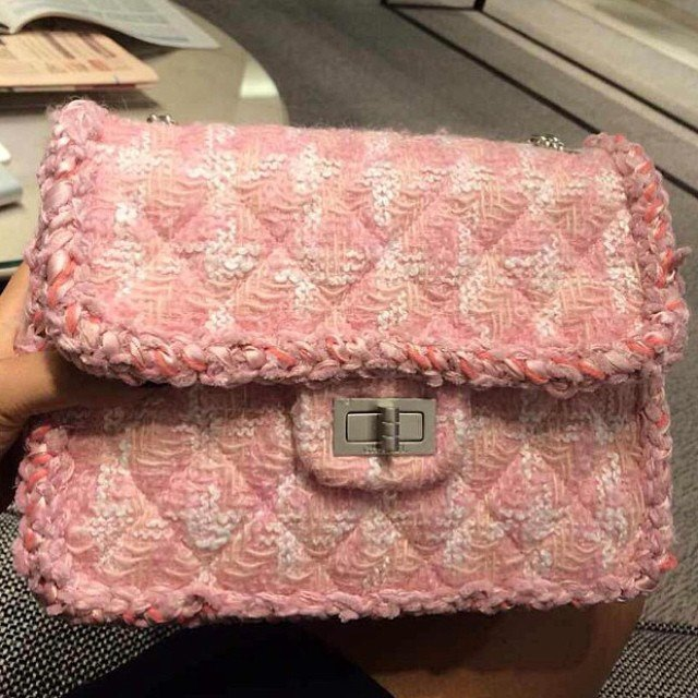 787dbb768a9e Chanel Tweed Pink Flap Bag – Bragmybag