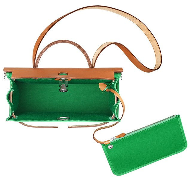 Hermes-Herbag-Zip-Bag-Green-2