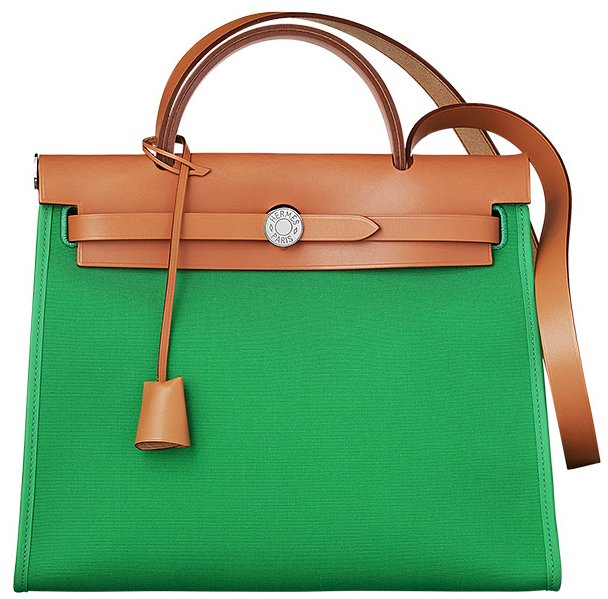 Hermes-Herbag-Zip-Bag-Green