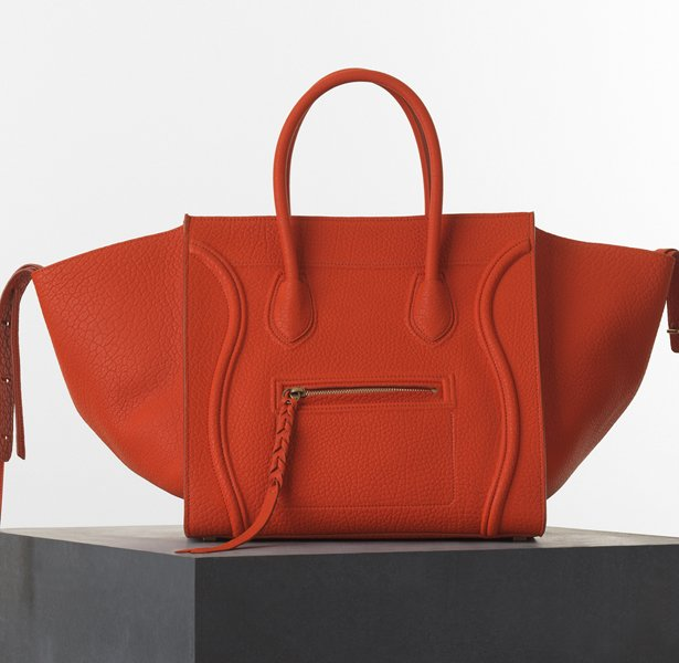 celine leather tote price - celine orange and maroon carry all bag, celine luggage buy online