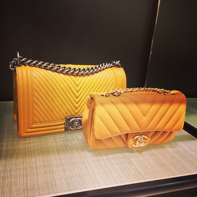 ce9a0ad6216b Chanel Chevron Flap Bag In Orange | Bragmybag