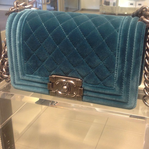 chanel velvet boy flap bag for fall winter 2014 collection
