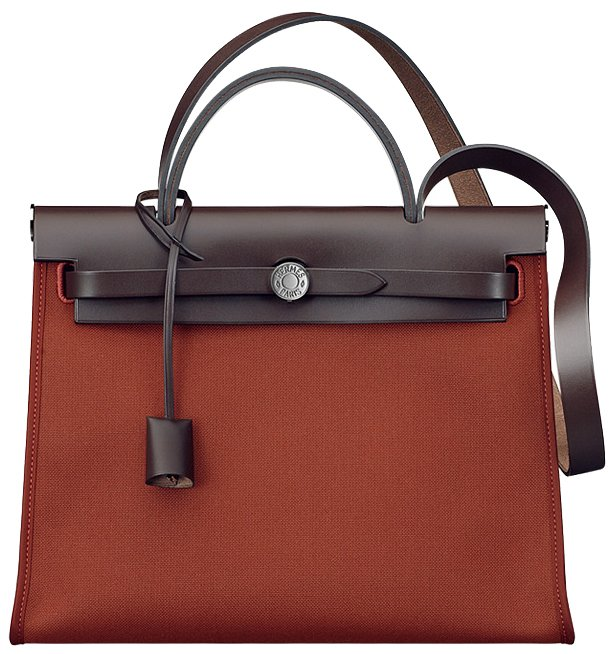 Hermes-Herbag-Zip-Bag-in-Chocolate-Brown