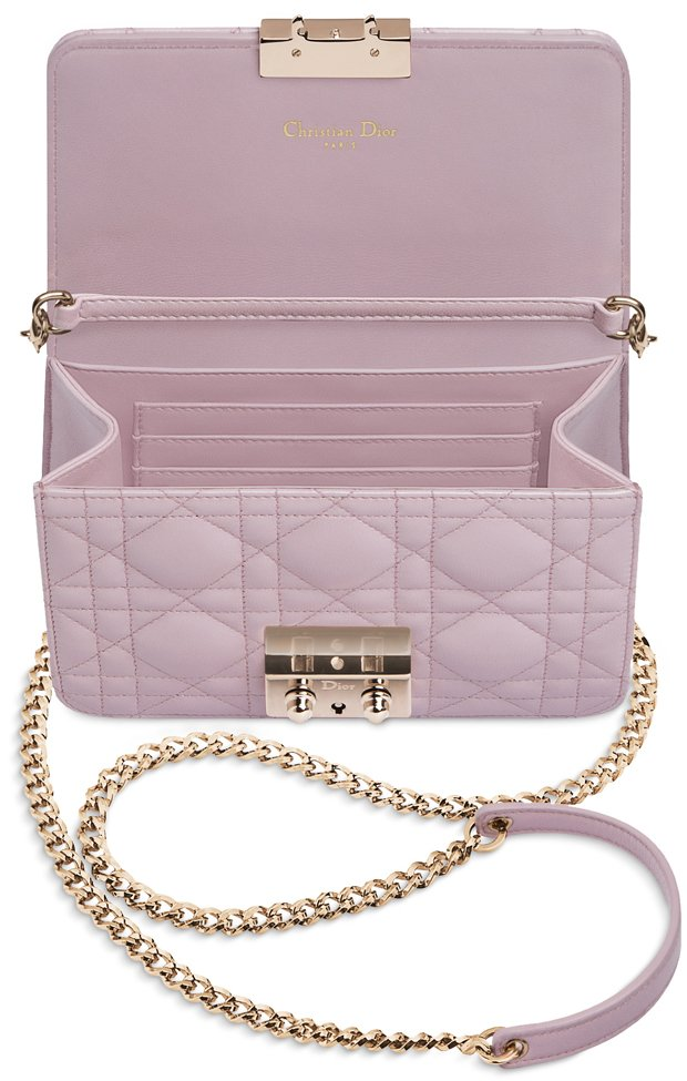 Miss Dior Pearlised Lotus Mini Pouch With Chains Bragmybag