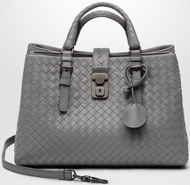 3d6481d5e761 Bottega-Veneta-Intrecciato-Roma-Bag-Grey