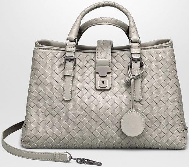 4beab02d82cb Bottega-Veneta-Intrecciato-Roma-Bag-Silver