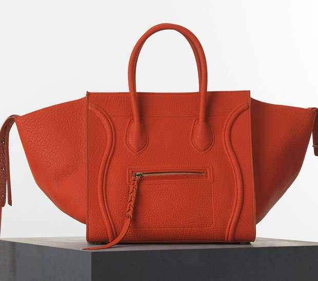 Celine-Luggage-Phantom-Handbag-in-Burnt-Orange-Bullhide-Calfskin