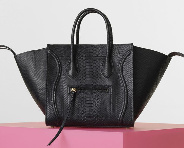 Celine--Luggage-Phantom-Handbag-in-Python