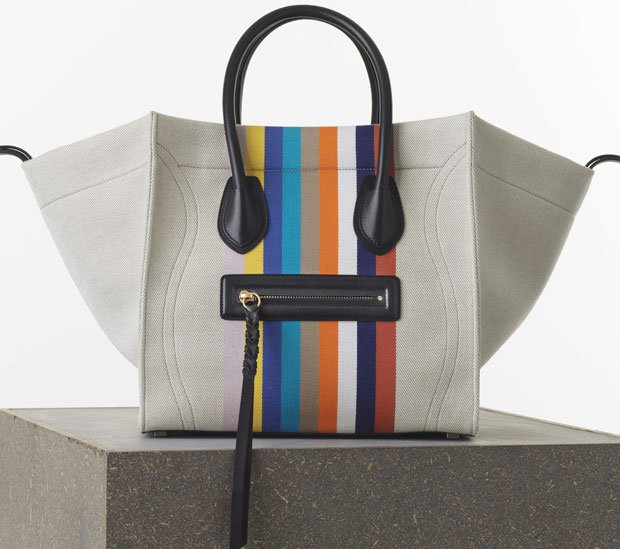 Celine-Medium-Luggage-Phantom-Handbag-in-Multicolour-Textile