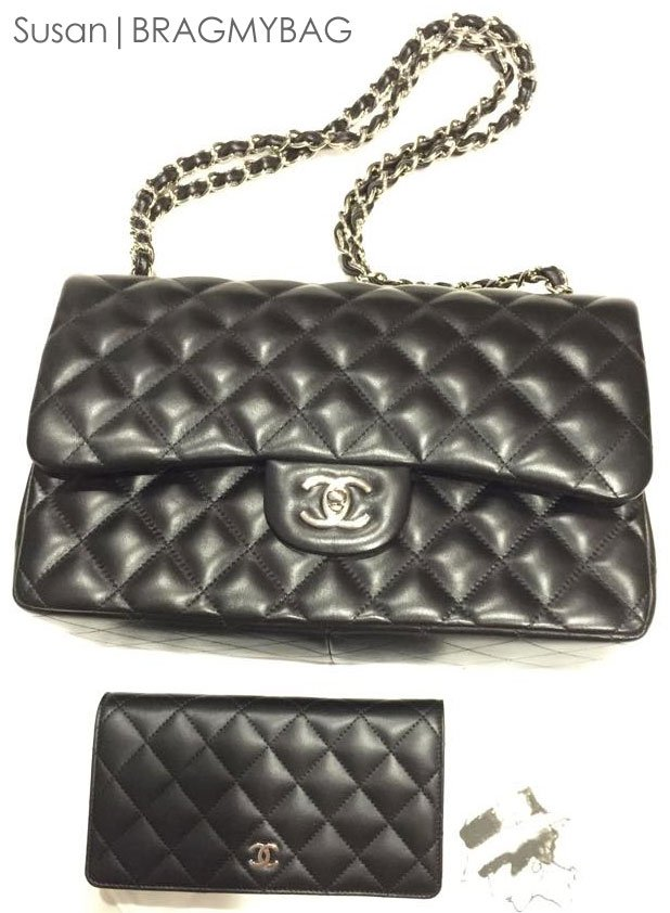 The Perfect Combination  Chanel Classic Flap Bag with Flap Wallet ... 968bac17aad3d