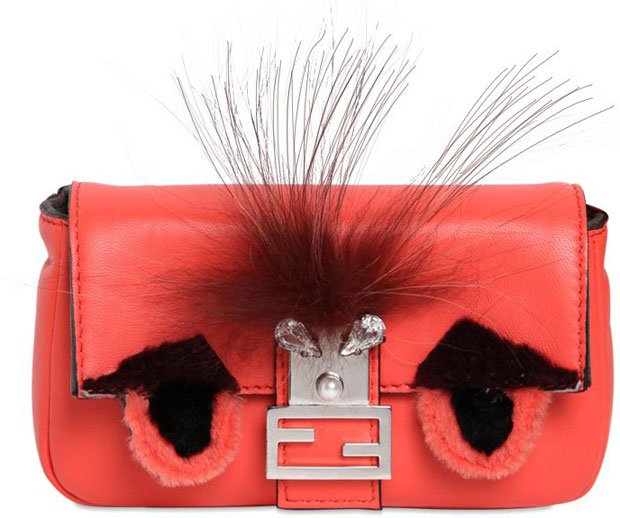 Fendi Micro Monster Baguette Leather Bag   Bragmybag