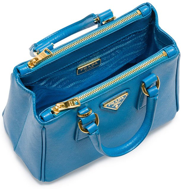 Prada-Saffiano-Mini-Galleria-Bag-Blue-2