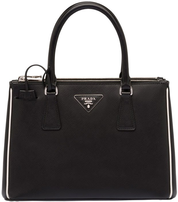 Prada-Saffiano-tote-with-trim-black