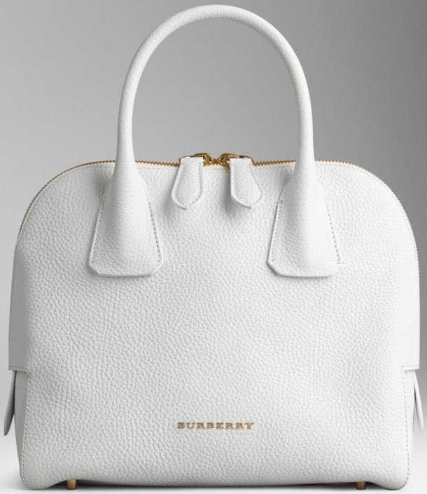 Burberry Small Grainy Leather Bowling Bag | Bragmybag