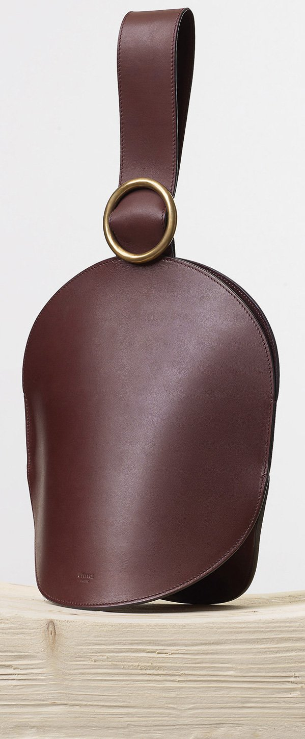 Celine-Curved-Clutch-in-Burgundy-Natural-Calfskin