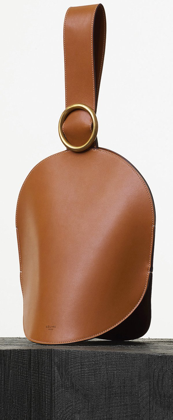 Celine-Curved-Clutch-in-Tan-Natural-Calfskin-