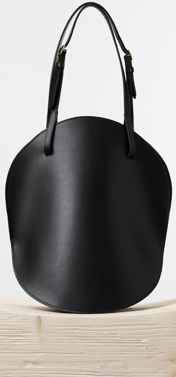 Celine-Curved-Shoulder-Bag-in-Black-Natural-Calfskin
