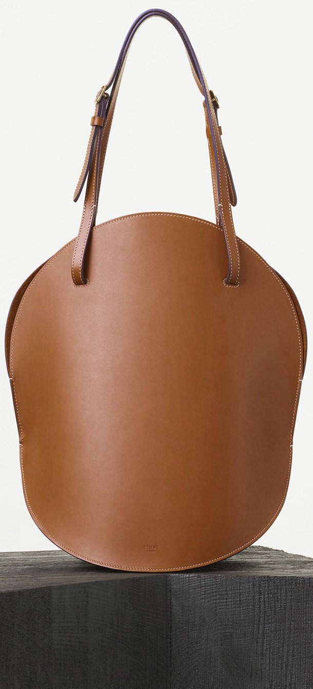 Celine-Curved-Shoulder-Bag-in-Tan-Natural-Calfskin