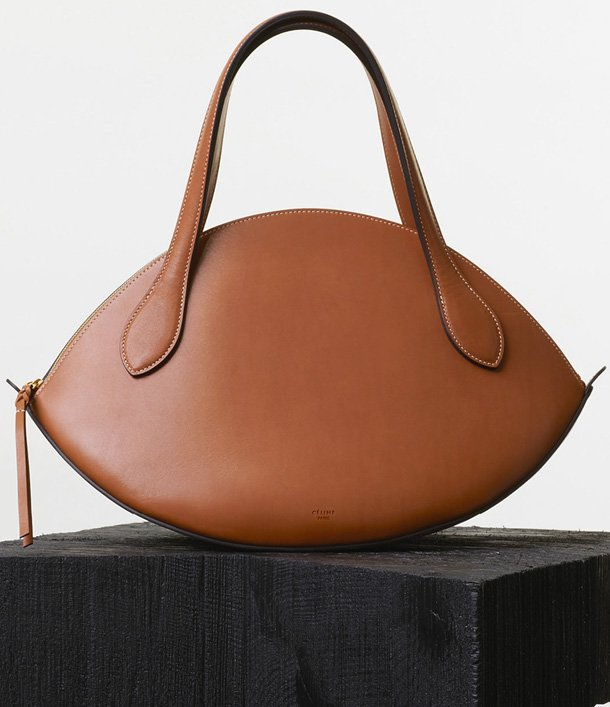 Celine-Large-Curved-Handbag-in-Tan-Natural-Calfskin