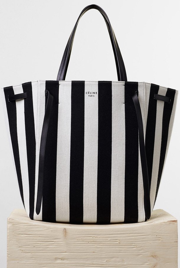 Celine-Medium-Cabas-Phantom-in-Textile-with-Natural-and-Black-Stripes
