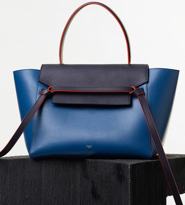 Celine-Mini-Belt-Bag-in-Navy-Natural-Calfskin
