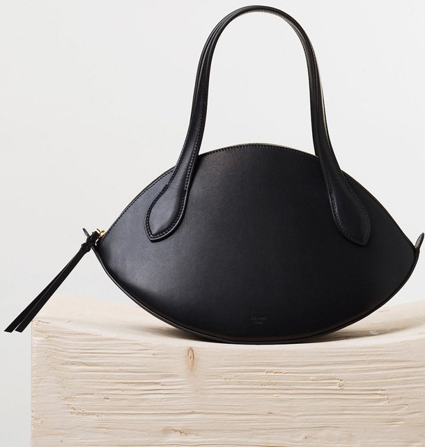 Celine-Small-Curved-Handbag-in-Black-Natural-Calfskin