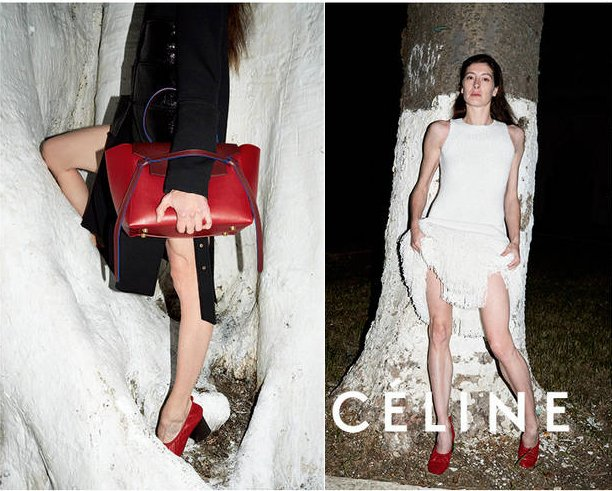 Celine Spring 2015 Ad Campaign Featuring New Round-Shaped Bag ...